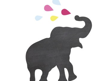 Chalkboard Elephant Wall Decals Large - Chalkboard Wall Decals