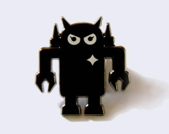 Giant Robot - Big Boss Robot Enamel Pin - Enamel Pins - Robot Pin - Lapel Pin