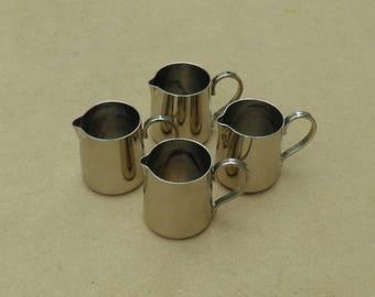 Coffee Cream Jugs - Silver Plated - M&R - Vintage Silverplate