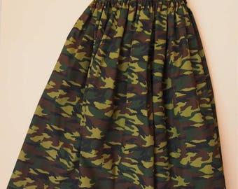 USD20 SALE- Camou skirt cotton skirt