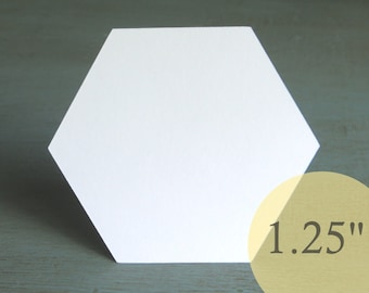 """Hive Paper Pieces - 1-1/4"""" HEXAGONS - English Paper Piecing Quilt Hexies - Choose Package Size"""