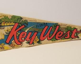 Key West, Florida - Vintage Pennant