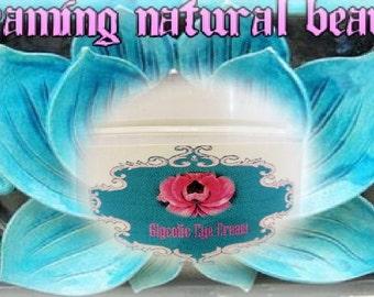 Glycolic Eye cream with Organic Shea Butter and Emu Oil 5% AHA (Glycolic acid)  1 oz