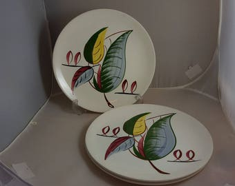 Blue Ridge Pottery Fantasia Pattern 3 Dinner Plates