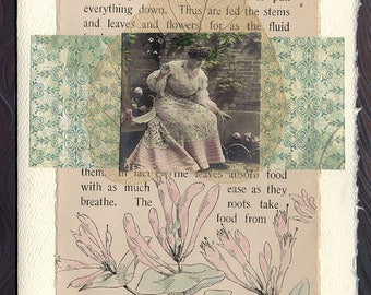 Song of Life Friendship Thinking of You Original Collage Card