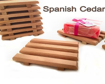 24 Soap Dishes - SELL MORE SOAP with these soap dishes - I'll teach you how - 24 Spanish cedar soap dishes Discounted Price