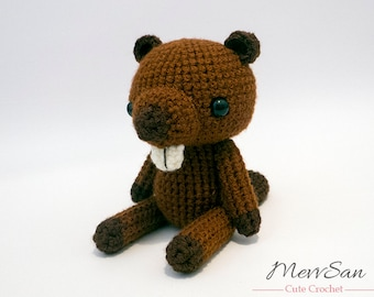 Crochet PATTERN PDF - Amigurumi Woodland Critter Beaver - crochet animal pattern, amigurumi beaver pattern, beaver plush, crochet beaver toy