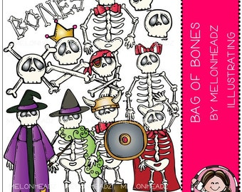 Bag of bones clip art