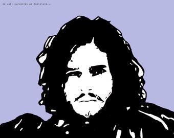 Jon Snow of Game of Thrones Art Print