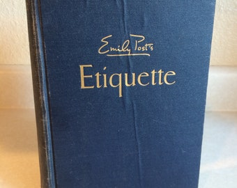 Emily Post's Etiquette Hardcover Book 1955 Printing Funk & Wagnalls