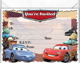 Personalised glossy birthday card large a5 inspired by trolls 20 x glossy party invitations inspired by cars with 20 x free envelopes birthday party invites filmwisefo Gallery