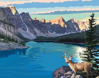 Banff, Alberta, Canada - Moraine Lake (Art Prints available in multiple sizes)