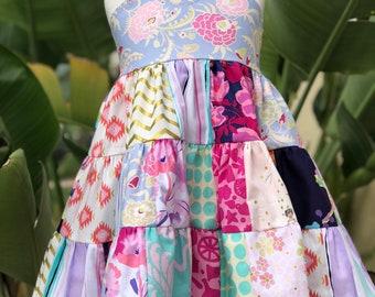Avalon Patchwork Twirly Dress