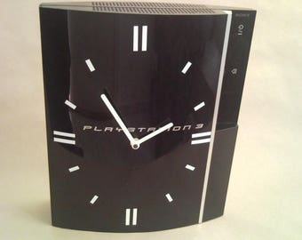 Sony PlayStation 3 console clock, PS3 PlayStation3 console clock, PlayStation video game clock decor, video game lover gift, gamer birthday