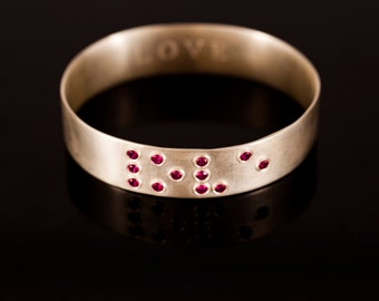 Love Is Blind Ruby Bracelet