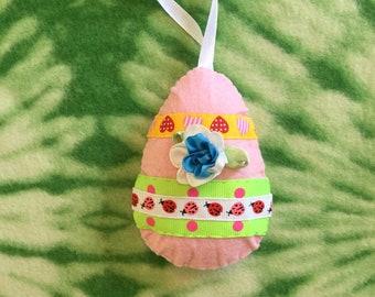 Felt Easter Ornament, Easter Home Decor, Hanging Decoration, Felt Easter Egg, Spring Decoration, Easter Ornament   shabby Chic, Easter Gift