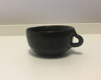 Small Black Teacup