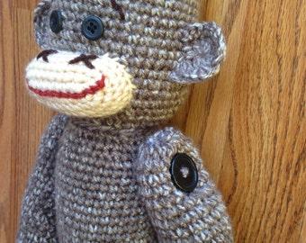 Crochet Stuffed Sock Monkey