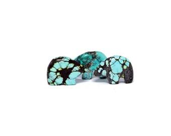 Zuni Bear Turquoise Fetish Beads