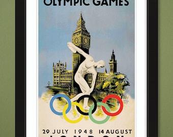 1948 London Olympic Games by Walter Herz (12x18 Heavyweight Art Print)