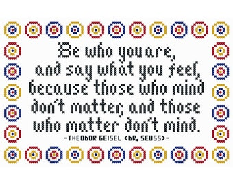 Be Who You Are - Original Cross Stitch Chart