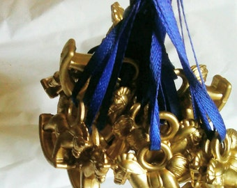 Royal baby shower, party favors, golden horse, welcome prince, welcome princess, gold and blue, gold and pink, gold and red,set of 20