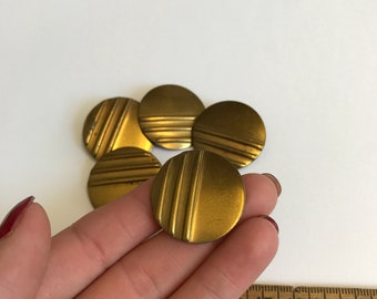 Set Vintage Metal Buttons