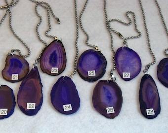 Purple Agate Fan Pull, Stone Light Pull, Ceiling Fan Pull, Agate, Light Pull Chain, Purple Agate 20-29