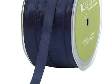 "Ribbon, Double Face Navy Blue  Satin Ribbon  3/8"" By   5 yards  Weddings, Bows, Gift Wrap Navy  Blue Satin"