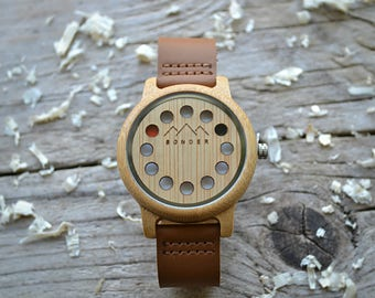 Wood Watch by S O N D E R. Mens Wood Watch, Authentic Wooden Watches for Men. A Modernist Gents Watch.
