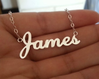 Name necklace, Sterling Silver Personalized necklace with Name,Christmas gifts