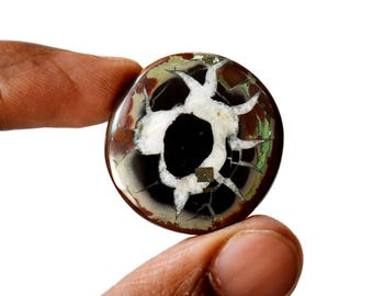 Septarian 45.5 Cts Natural  Top Quality Gemstone Cabochon Round Shape 29x28x6 MM R14644