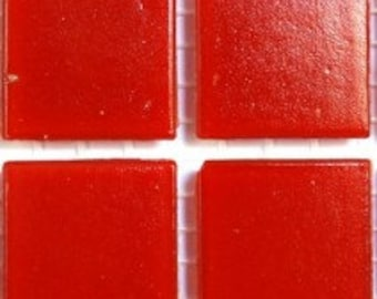 "20mm (3/4"") Cherry Red Vitreous Glass Mosaic Tiles//Mosaic Supplies//Mosaic Pieces//Crafts"