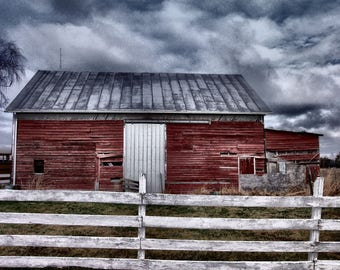Red Barn, Red Barn Photography, Red Barn Print, Barn Print, Barn Photography, Barn Photograph, Red Barn Picture, Virginia Barn Photograph
