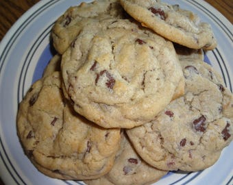 Chewy Homemade Bacon Chocolate Chip Cookies (30 Cookies)