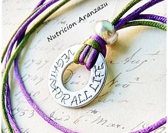 Vegan for all life Necklace, Vegan pendant, Veganism, Vegan message, Vegetarian Jewelry, vegan jewellery, vegan gift, vegan present, 269