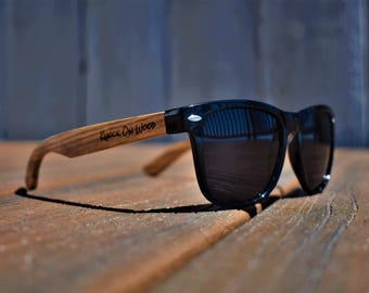 Classic Wood V2 - Polarized Bamboo Wayfarer Sunglasses for Men and Women