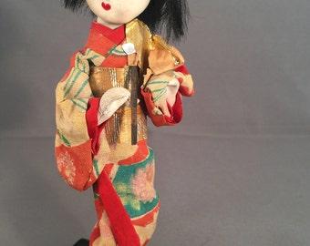Little Vintage Japanese Geisha Doll