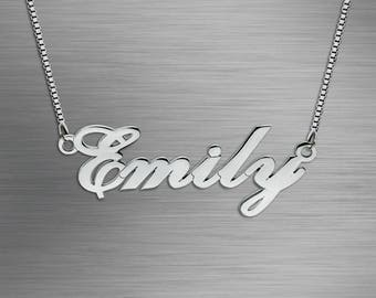Personalized Name Necklace, Customize Name Necklace, Custom made any Name - 925 Sterling Silver