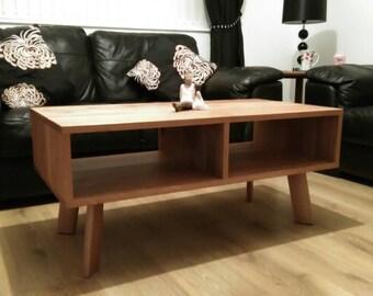 Modern oak retro coffee table