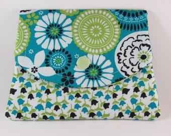 Womens Fabric Wallet, Fabric Women's Wallet, Small Wallet, Credit Card Holder, Business Card Wallet, Gift Card Holder, Gift For Her Under 20