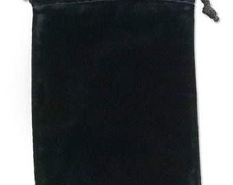 10 - Velvet Pouches - 4 x 5 - Black