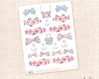 Good Vibes - 21 hand painted watercolor decorative stickers for planners