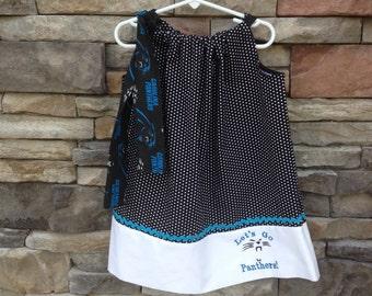 Carolina Panthers Pillowcase Dress - Sizes Infants and Larger