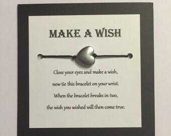 Make a wish heart bracelet