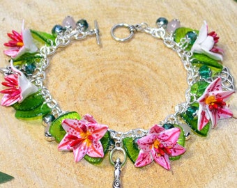 Triple Goddess Lily Bracelet - The Mother - Pagan Jewellery, Wicca, Witch