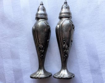 Vintage Salt & Pepper Shakers|Stanhome Silver Plated Shakers|Kitchen and Dining|Salt and Pepper Shakers