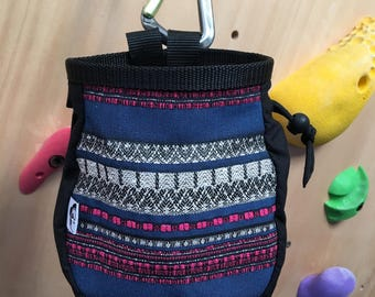 Pink and Blue Poncho print Chalk Bag