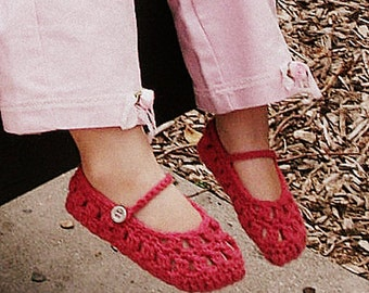 Download Now - CROCHET PATTERN Sweetheart Mary Janes - Baby and Toddler - Pattern PDF