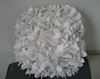 NEW White Round Hydrangea Pillow
